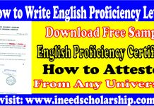 How To Write English Proficiency Certificate/Letter