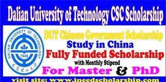 Dalian University of Technology CSC Scholarship-DUT Scholarship 2021