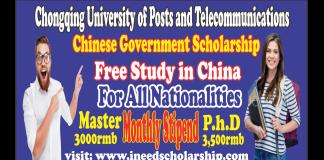 Chongqing University of Posts and Telecommunications CSC Scholarship