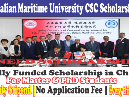 Dalian Maritime University CSC Scholarship 2021