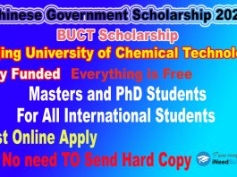 BUST Chinese Government Scholarship CSC Scholarship 2021
