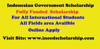 Indonesian Government Scholarship in Indonesia 2021