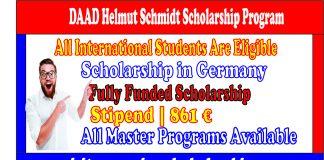 DAAD Helmut Scholarship