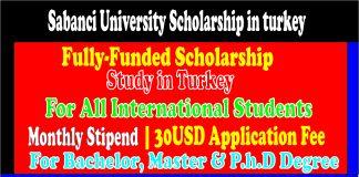 Sabanci University Scholarship in turkey
