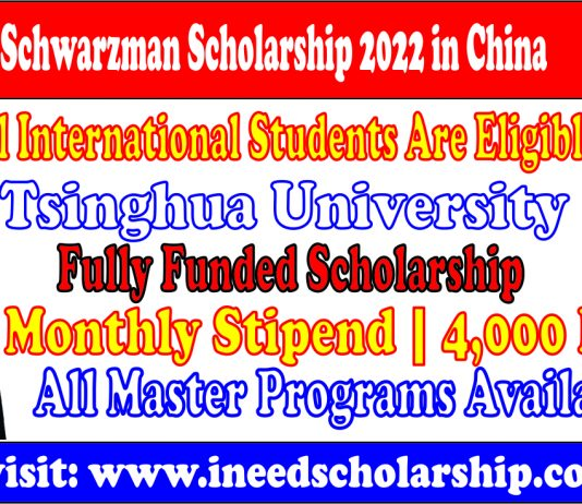 Schwarzman Scholarship 2022
