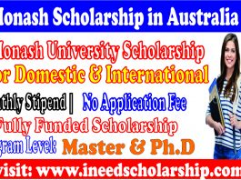 Monash University Scholarship