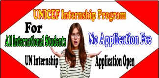 UNICEF Internship Program
