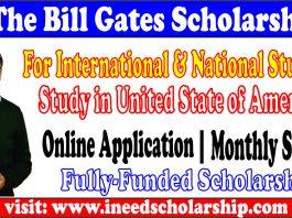 Gates Scholarship in USA