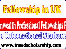 Commonwealth Professional Fellowships Program in UK