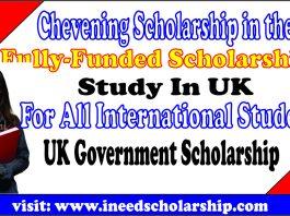 Chevening Scholarship in the UK
