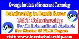GIST Scholarship in Korea