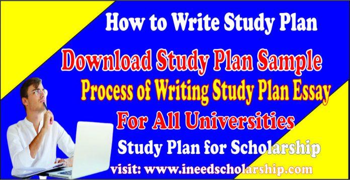 How to Write Study Plan