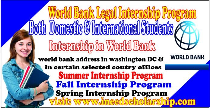 World Bank Legal Internship Program