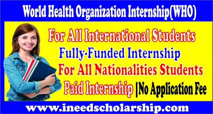 WHO Internship